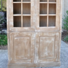 Library Cabinet with Glass Transoms