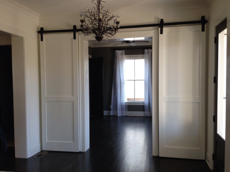 Custom sized interior double barn doors european for Unique interior door ideas
