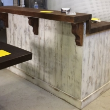 Rustic Bar/Checkout Counter