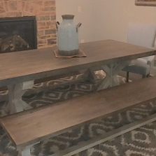 Trestle Table & Bench