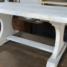 Hour Glass Trestle Table