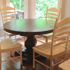 Custom Pedestal Table