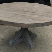 1 Custom Pedestal Table