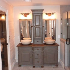 Double Vanity With Tower Master Bathroom Double Vanity with